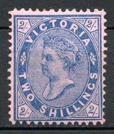 VICTORIA - (Confédération Australienne) - 1901 - N° 125 - 2 S. Bleu S. Rose - (Victoria) - 1850-1912 Victoria