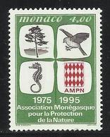MONACO , 4 Frs , 20 Anniver... De L'Association Monégasque Pour La Protection De La Nature , 1995 , N° YT 1995 , NEUF ** - Neufs