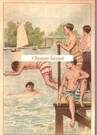 Chromo Chocolat De L'UNION Thiers 63 - Sports : NATATION  -  Scans Recto Verso - Chocolat