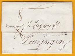 1821 - Marque Postale Delémont, Jura Suisse Sur Lettre Pliée Vers Leuzingen, Berne - Taxe 8 - Zwitserland