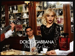 NEW DOLCE & GABBANA THE ONLY ONE  PATCH POSTCARD PERFUMEE CARTE AUSTRALIE - Modern (from 1961)