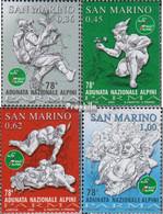 San Marino 2194-2197 (kompl.Ausg.) Postfrisch 2005 Gebirgsjägerversammlung - Neufs