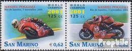 San Marino 2010-2011 Paar (kompl.Ausg.) Postfrisch 2002 Motorrad WM - Unused Stamps
