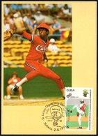 CUBA HABANA 1991 - XI JUEGOS DEPORTIVOS PANAMERICANOS - MAXIMUM CARD - Baseball