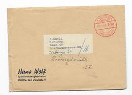 DR Brief Gebühr Bezahlt, Stuttgart Cannstatt 1 18.8.42 + Inhalt - Briefe U. Dokumente