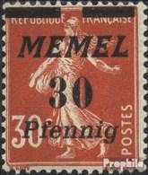 Memelgebiet 59 Avec Charnière 1922 émision De Surcharge - Memel (Klaïpeda)