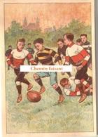 Chromo Chocolat De L'UNION Thiers 63 - Sports : RUGBY  -  Scans Recto Verso - Chocolat