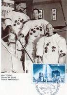 Carte 1er Jour Apollo 16(21-4--1972)-johyoung Charles M. Duke Thomas Mattingly. - Espace