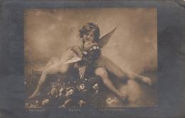 Angel Cupid Children Le Printemps Artist L.Perrault Old Postcard - Anges