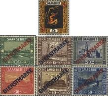 Saarland D2-D5,D7-D9 Con Fold 1922 Paesaggi - Nuovi