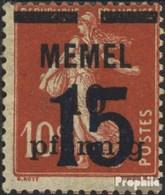 Memelgebiet 34 Oblitéré 1921 émision De Surcharge - Klaipeda