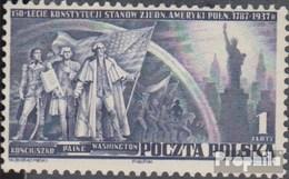 Pologne 326 (complète.Edition.) Avec Charnière 1938 Constitution Le Etats-Unis - Ungebraucht