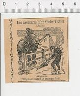 Humour De 1908 Humour Eléphant Sacré Au Siam Animal Parapluie 51D17 - Vieux Papiers