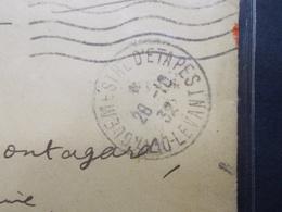 Marcophilie  Cachet Lettre Obliteration -  MILITAIRE - LEVANT Vaguemestre D'Etapes 1932 (2280) - Marcophilie (Lettres)