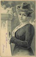 PORTRAIT DE FEMME  (carte Gaufrée). - Femmes