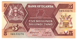 Uganda 5 Shillings 1987 UNC .C3. - Uganda