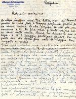 ##(DAN194)-Italy-Taormina-Albergo Bel Soggiorno-vecchia Carta Intestata Con Testo Manoscritto Dell'epoca - Vecchi Documenti