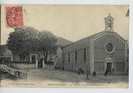 SAINT AFFRIQUE: Le Temple Et La Sous-préfecture - Amat édit. - Saint Affrique