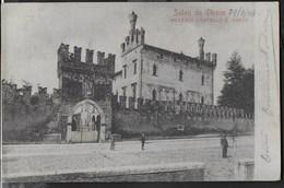 SALUTI DA THIENE - CASTELLO S. MARIA - ANIMATA - FORMATO PICCOLO FINE '800 - EDIZ. AGOSTINO FABRIS - VIAGGIATA 1904 - Souvenir De...