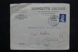 TURQUIE - Enveloppe Commerciale De Istambul Pour La France En 1936 , Affranchissement Plaisant - L 25533 - 1921-... Republiek