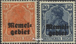 Memelgebiet 14-15 Avec Charnière 1920 Allemagne-surcharge - Memel (Klaïpeda)