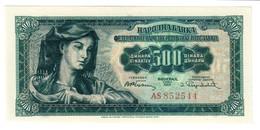 Yugoslvia 500 Dinara 01/05/1955 UNC .C3. - Jugoslavia