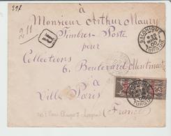 """LEVANT : """" SALONIQUE """" CàD Type A2 / Yv N° 4 / LSC REC De 1900 Pour La Paris TB - Levant (1885-1946)"""