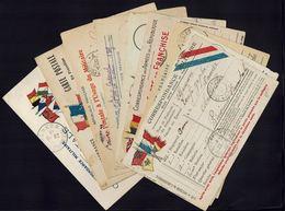 FR - Guerre 1914-18 -Lot De Neuf Cartes Postales à Usage Militaire En FM - Destinations Différentes - P. Orientales - - Marcophilie (Lettres)