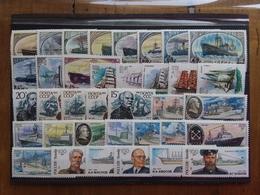 RUSSIA Anni '70/'80 - Lotticino 36 Navi E Navigatori - Nuovi ** + Spese Postali - 1923-1991 USSR
