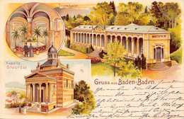 BADEN BADEN GERMANY~KAPELLE STOURDZA-TRINKHALLE-1904  GRUSS AUS POSTCARD 39666 - Baden-Baden