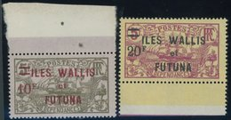 WALLIS- UND FUTUNA-INSELN 39/40 **, 1924, 10 Fr. Auf 5 Fr. Und 20 Fr. Auf 5 Fr. Iles Wallis Et Futuna, Postfrisch, 2 Pra - Wallis And Futuna