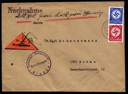A5972) DR Nachnahme-Brief Giessen 15.05.44 N. Worms - Dienstpost