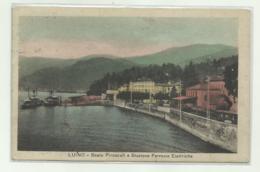 LUINO - SCALO PIROSCAFI E FERROVIE ELETTRICHE  1929  VIAGGIATA FP - Varese