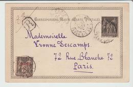 """LEVANT : """" SMYRNE / TURQUIE D' ASIE """" CàD Type A2 / Affr. MIXTE Fr. + Levant / CPA De 1900 Pour Paris TB - Levant (1885-1946)"""