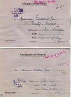 TB 2496 - MILITARIA - Lettre Pour Prisonnier De Guerre - Colis Postal - Stalag XII A  Pour BAILLY - CARROIS Par NANGIS - Marcophilie (Lettres)