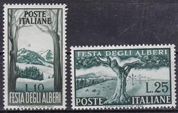 Repubblica Italiana, 1951 - Festa Degli Alberi - Fil. R1 - Pos. SA ND - Nr.176/177 MNH** - 1946-.. République