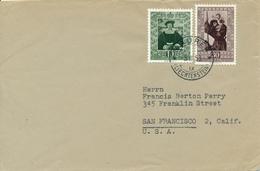 Liechtenstein / MAUREN - 1953  , Brief  Nach San Franzisko / USA - Liechtenstein
