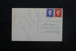 FRANCE - Affranchissement Dulacs De Biarritz Sur Carte Postale Pour Monaco En 1946 - L 25544 - Marcophilie (Lettres)
