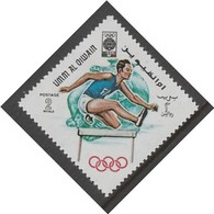 TIMBRE NEUF D'UMM AL-QIWAIN - COURSE DE HAIES (J.O. DE MEXICO) N° MICHEL 268 - Athlétisme