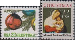 USA 1958-1959 (kompl.Ausg.) Postfrisch 1987 Weihnachten - Etats-Unis