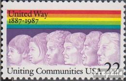 USA 1881 (kompl.Ausg.) Postfrisch 1987 United Way Of America - Etats-Unis