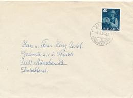 Liechtenstein / VADUZ - 1954  , Brief  Nach München - Liechtenstein