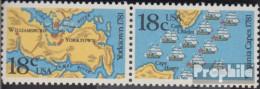 USA 1511-1512 Paar (kompl.Ausg.) Postfrisch 1981 Schlachten Von Yorktown - Etats-Unis