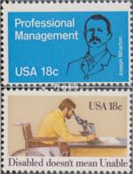 USA 1491,1497 (kompl.Ausg.) Postfrisch 1981 Betriebswirtschaft, Behinderte - Etats-Unis