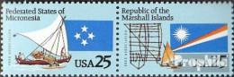 USA 2105-2106 Paar (kompl.Ausg.) Postfrisch 1990 Assoziierungsverträge - Etats-Unis