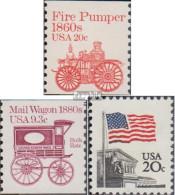 USA 1516,1521,1522 (kompl.Ausg.) Postfrisch 1981 Fahrzeuge, Flagge - Etats-Unis