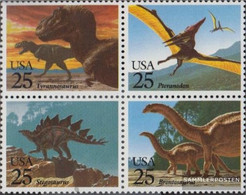 U.S. 2051-2054 Block Of Four (complete Issue) Unmounted Mint / Never Hinged 1989 Dinosaur - Etats-Unis