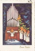 Angel Children Organ Orgue Music Buon Natale Christmas Postcard - Anges
