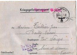TB 2497 - MILITARIA - Lettre Pour Prisonnier De Guerre - Colis Postal - Stalag XII A  Pour BAILLY - CARROIS Par NANGIS - Marcophilie (Lettres)