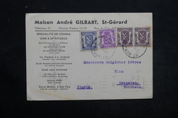 BELGIQUE - Carte Commerciale ( Vins ) De Saint Gérard Pour Bergerac En 1949, Affranchissement Plaisant - L 25547 - Belgium